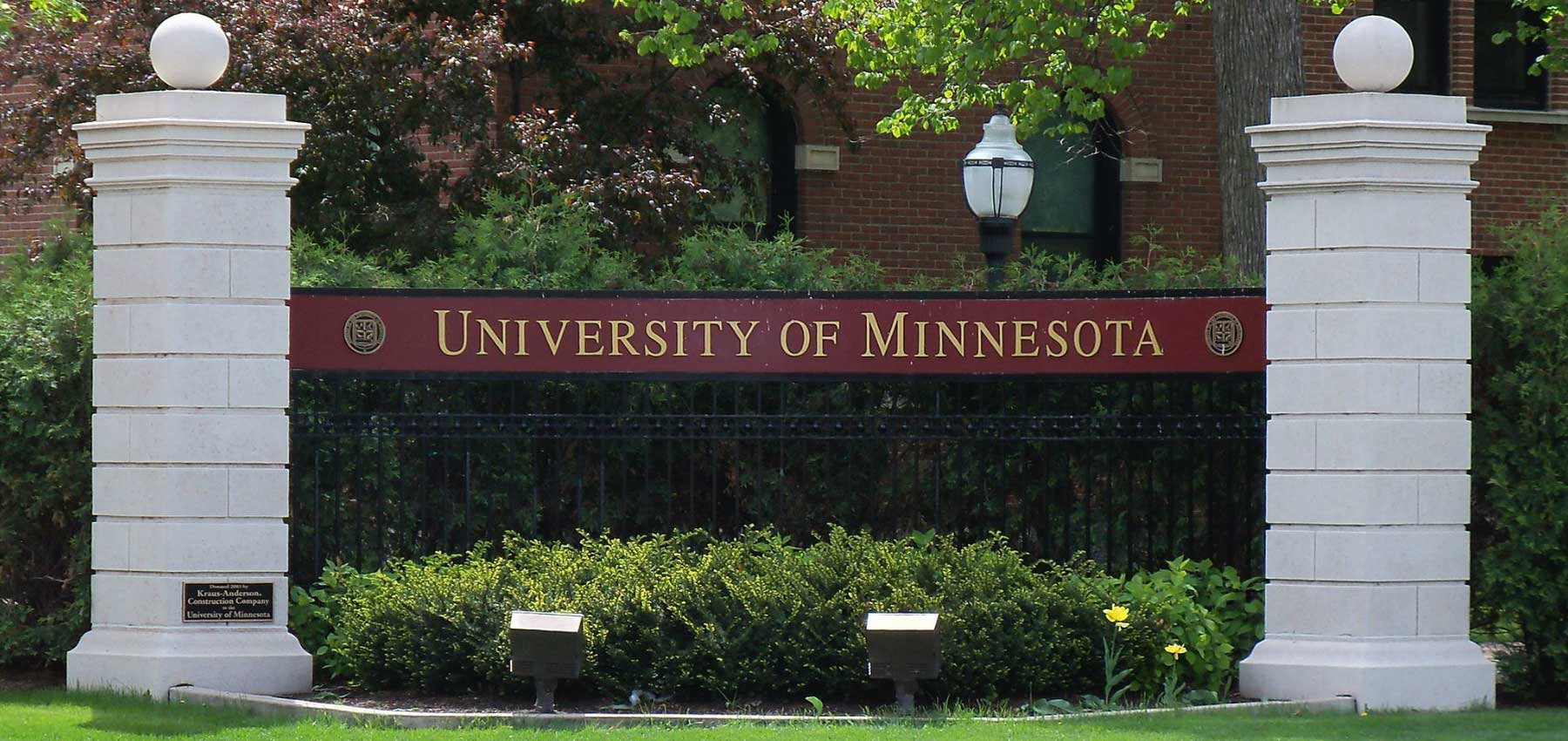 University of Minnesota campus entrance