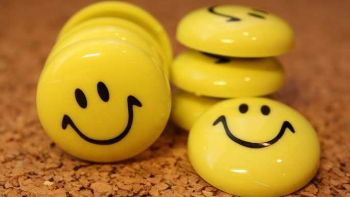 Smiling buttons