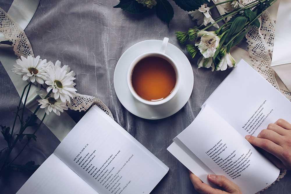 Books and tea