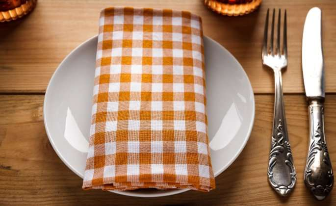 Kitchen cutlery orange