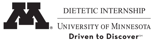 University of Minnesota dietetic internship logo